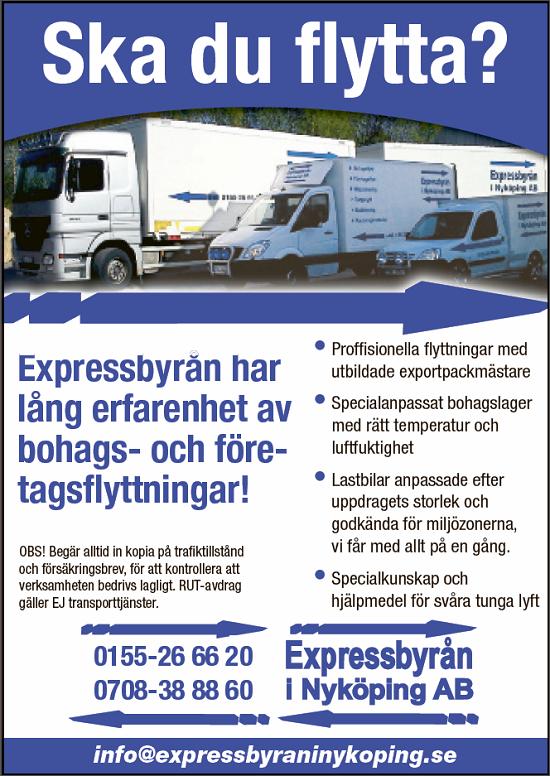 Expressbyrån - Nyköpings flyttfirma.
